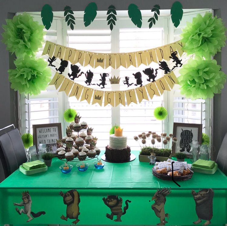 """Where the Wild Things Are"" party decor for first birthday"