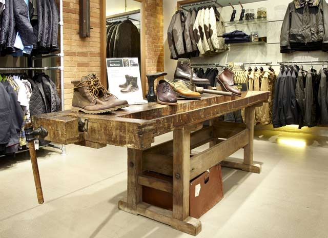Peachy Display Option Reclaimed Wooden Work Benches And Machinery Inzonedesignstudio Interior Chair Design Inzonedesignstudiocom