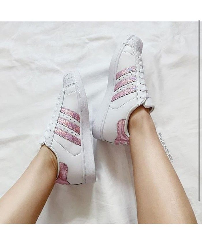 Adidas Superstar Holographic Pink White