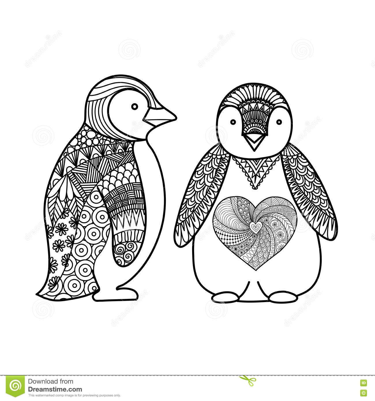 K ptal lat a k vetkez re adult coloring penguin for Penguin adult coloring pages