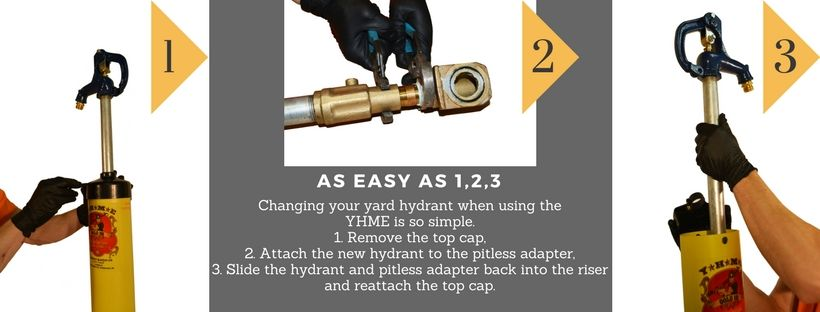 Replace Your Yard Hydrant With 3 Easy Steps When You Use A Yhme Hydrant Yard Easy Step
