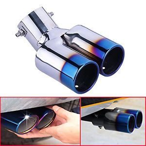 Stainless Steel Universal Chrome Car Vehicle Exhaust Pipe Tail Muffler Tip Pipe