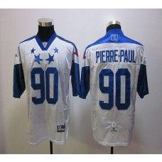 2e8c2b44c Giants  90 Jason Pierre-Paul White 2012 Pro Bowl Stitched NFL Jersey ...