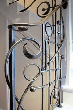 contemporary wrought iron detailing