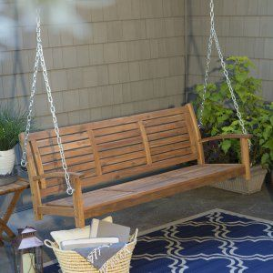 Belham Living Richmond Straight Back Porch Swing With Optional Cushion Swings At Hayneedle