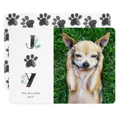 Botanical Joy Paw Print Pet Holiday