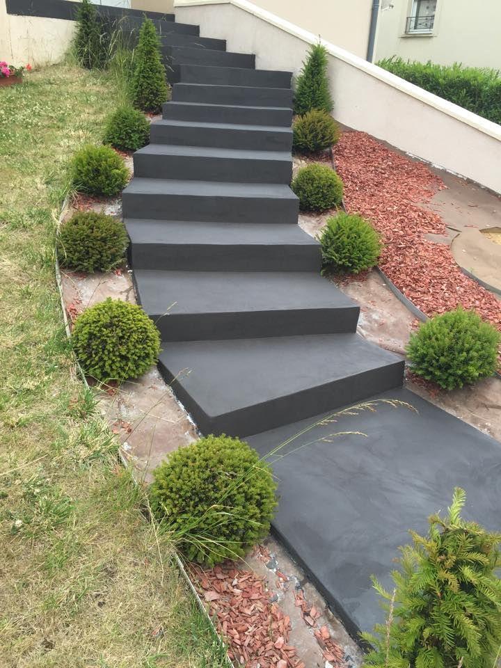 Sublimez Vos Escaliers Exterieurs Avec Le Beton Cire Escalier Exterieur Escalier Exterieur Beton Revetement Escalier