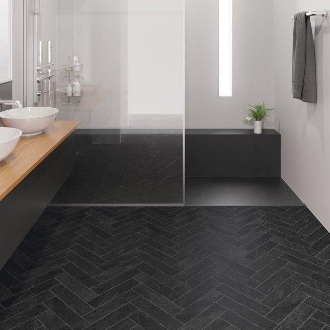 Waterproof Laminate Flooring, Black Slate Waterproof Laminate Flooring