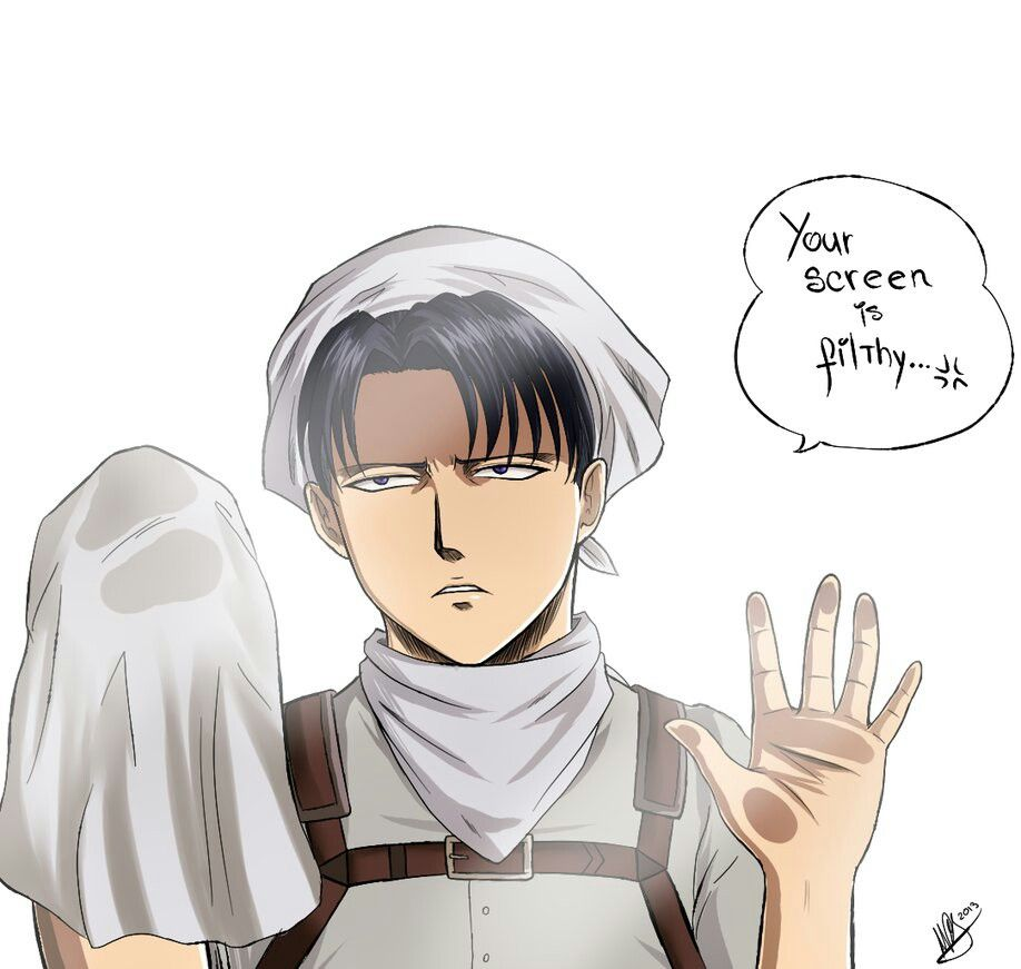 Levi Cleaning Your Screen With Images Attack On Titan Levi