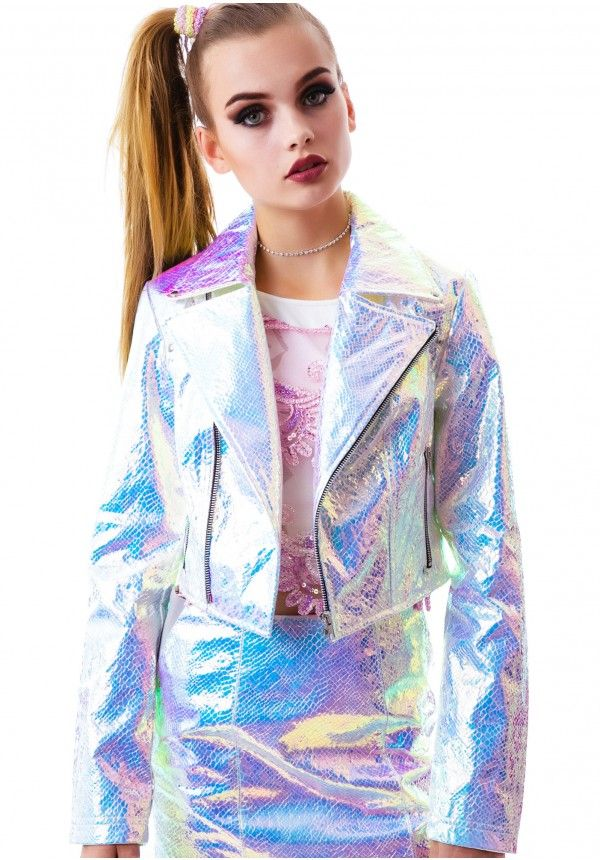 gotham holographic jacket  holographic fashion