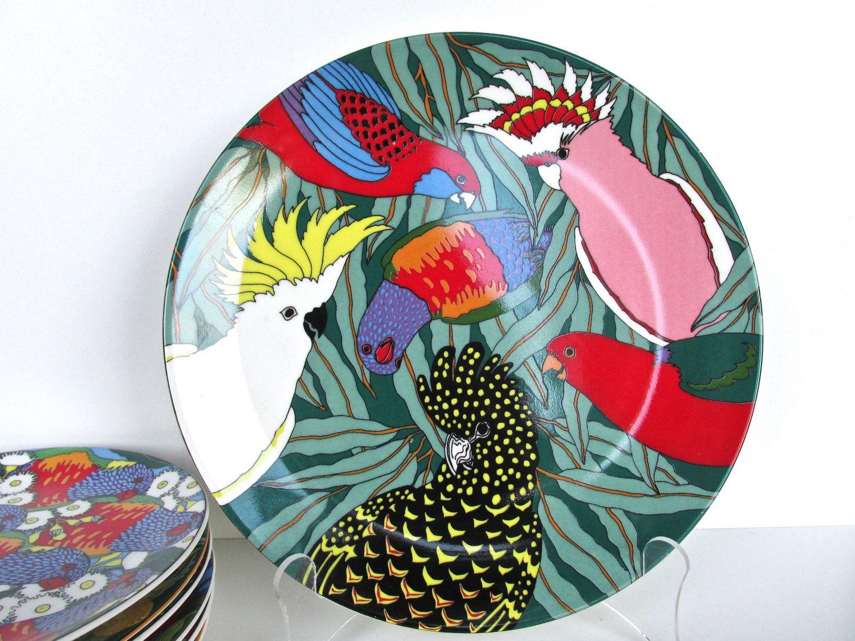 Barbara Swarbrick Conference Of The Birds Plate Australian Fine Porcelain Dinner Plate Tropical Bird  sc 1 st  Pinterest & Barbara Swarbrick Conference Of The Birds Plate Australian Fine ...