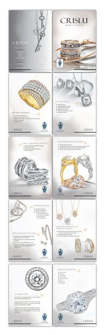 Create a marketing brochure for a fine jewelry company by - jewelry brochure