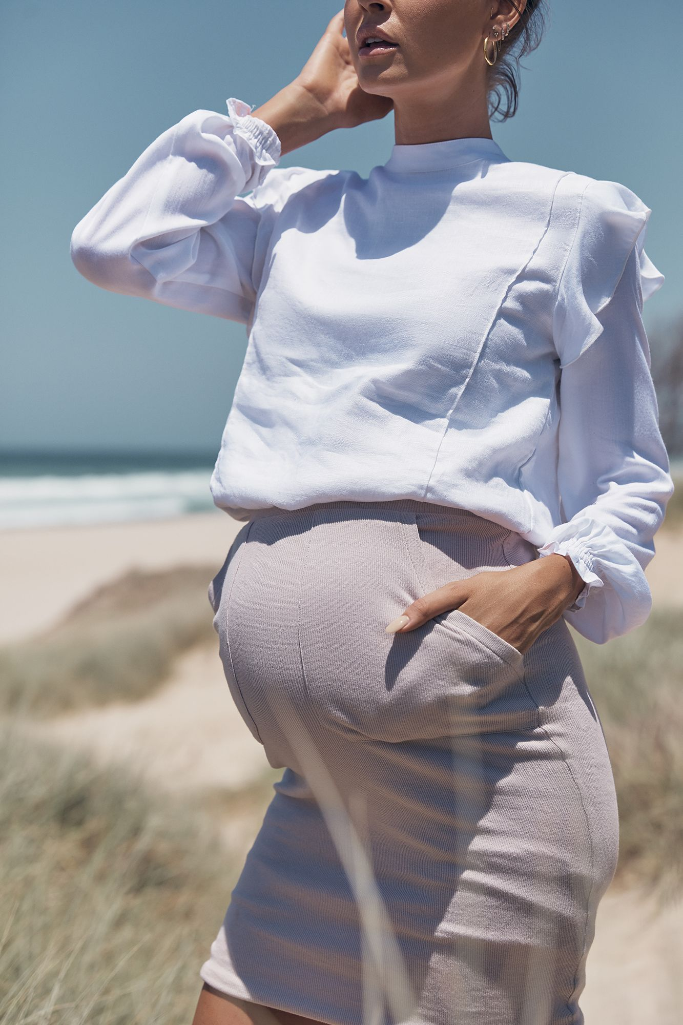 d334e7a42cf0c Manilla Crop Shirt (White) in 2019 | LEGOE. Maternity + Nursing Tops ...