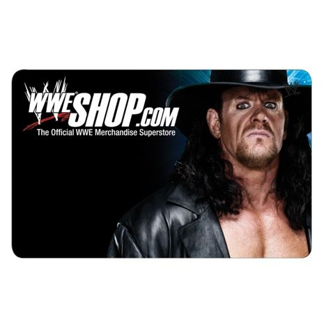 WWEShop.com Undertaker Gift Cards are the perfect choice for Birthdays, Holidays, Thank Yous and more! Easy to order and wrapping is a breeze! Always the perfect gift for any member of the WWE Universe. Collect all four. Select a Size: $10 $25 $50 $75 $100