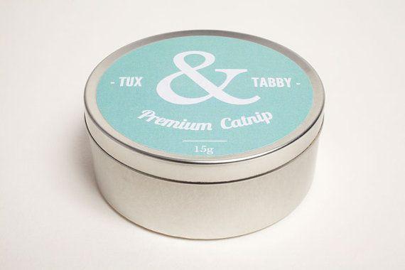 Tin of Premium Catnip // Delicious Cat Treat by TuxandTabby, £7.00