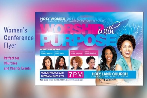 Women Conference Flyer Template  Flyer Template And Template