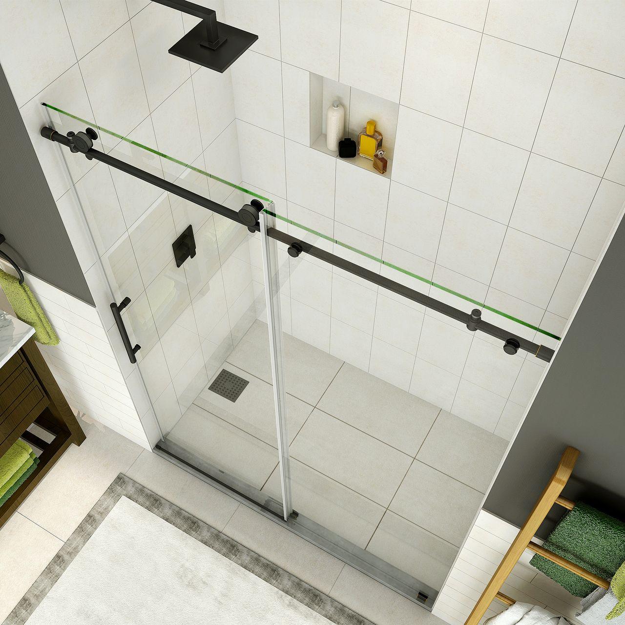 Sdr984 Coraline Coraline Xl Frameless Sliding Alcove Shower Door With Starcast Coating Tub Doors Shower Doors Frameless Sliding Shower Doors