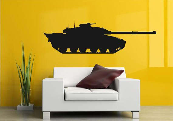 large Army Tank Vinyl Wall Art sticker decal boys children toys play ...