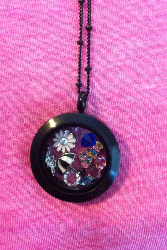 Mine to match my sisters, Umbrella & Lightning I love gloomy days.  Medium black locket.