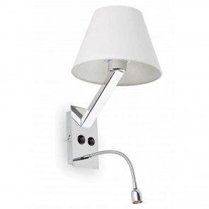 Applique avec liseuse MONA BLANC bed lamps