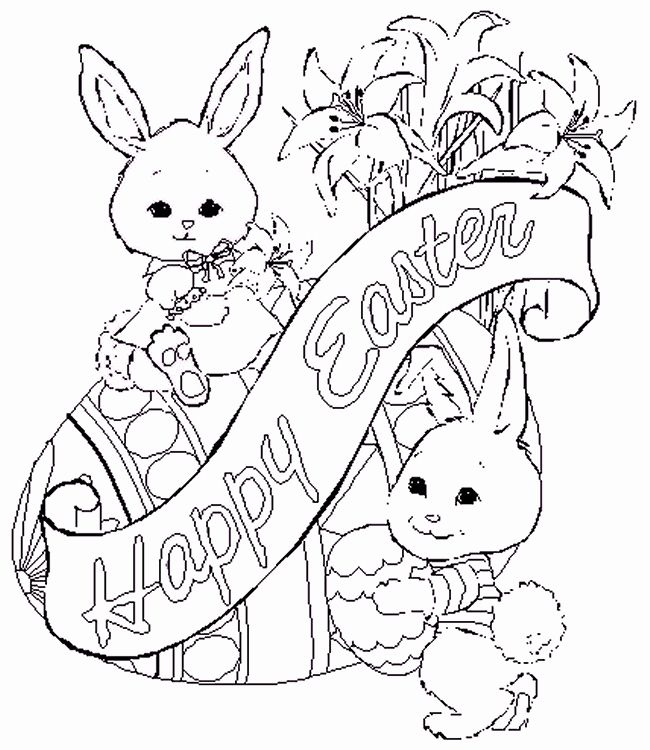 Cute Spring Coloring Pages in 2020 | Bunny coloring pages ...