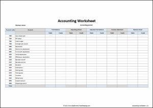 Blank Income Statement Form Alluring Accounting Worksheet Template  Template Trial Balance And .