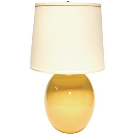 Haeger Potteries Saffron Yellow Ceramic Egg Table Lamp K3154 Lamps Plus Yellow Ceramics Table Lamp Lamp