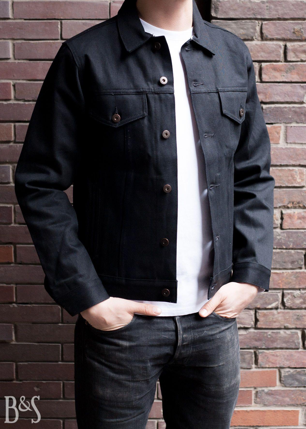 Denim Jacket Jean Black Selvedge | Schwarze jeansjacke