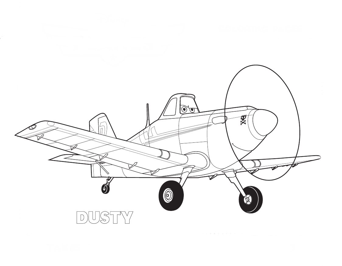 FREE Disney Planes Dusty coloring pages printable | Lucas birthday ...