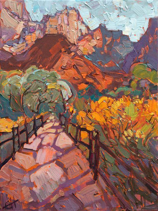 Zion Shadows Modern Impressionism Contemporary Landscape Painting Landscape Paintings Desert Art
