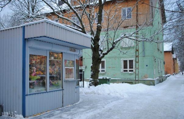A kiosk selling flowers, Tallinn, Estonia