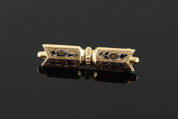 d59c707cd Victorian Mourning Jewelry Hollow Bar Pin Brooch Gold Filled ...