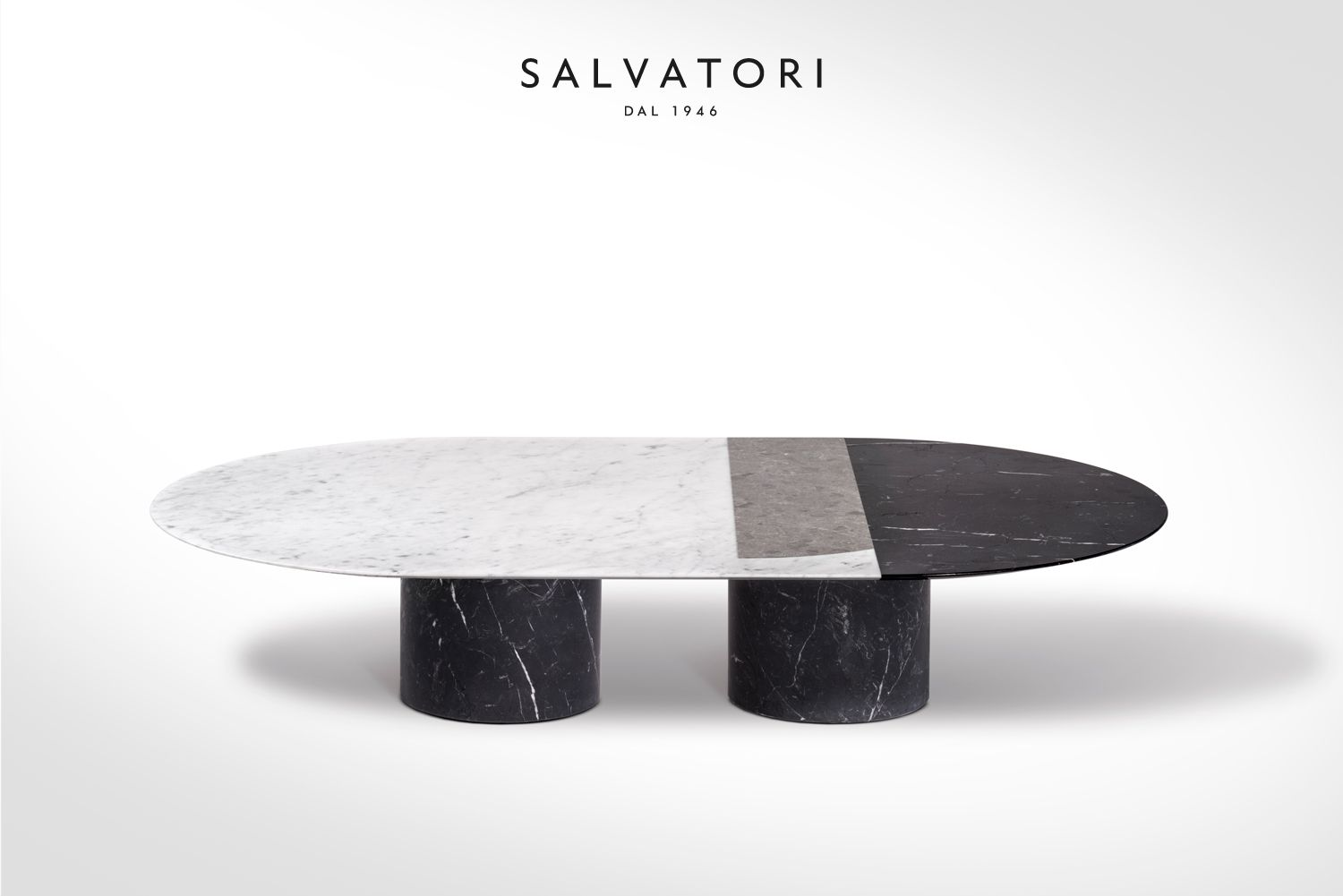 Marble Effect Coffee Table Black