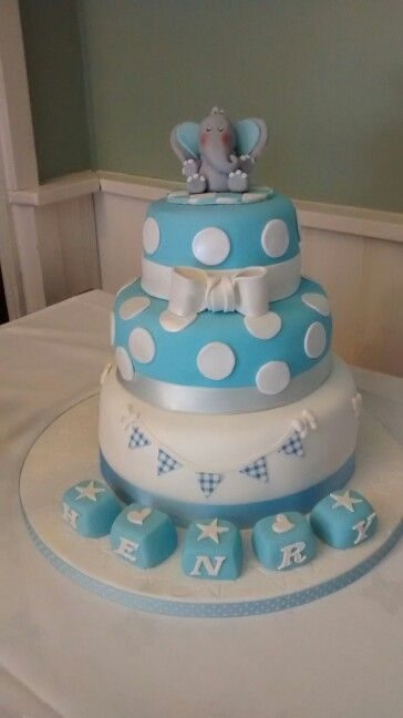 Christening cake freshly baked by www.cupcakebazaar.co.uk