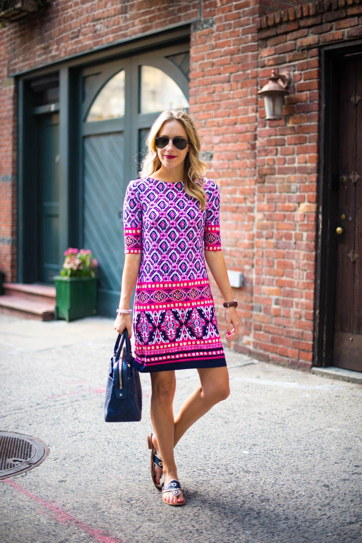0f03d7682 Dress Giveaway: Eliza J Print Jersey Shift via @katiesbliss | Stich ...