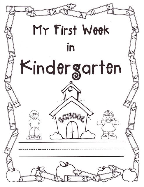 Freebie~Teacher Bits and Bobs: first week of kindergarten