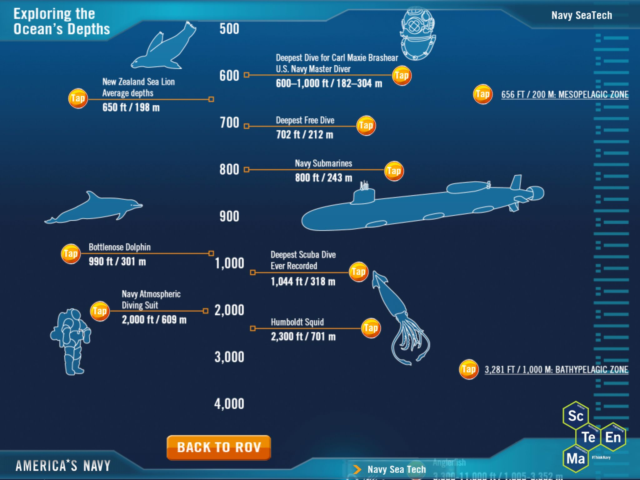 Navy App  Seaperch  Deep Sea Chart