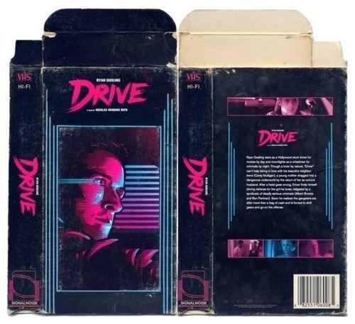 Drive Retro Vhs Cover Mockup Vhs Box Cover Artwork Graphic Design Posters