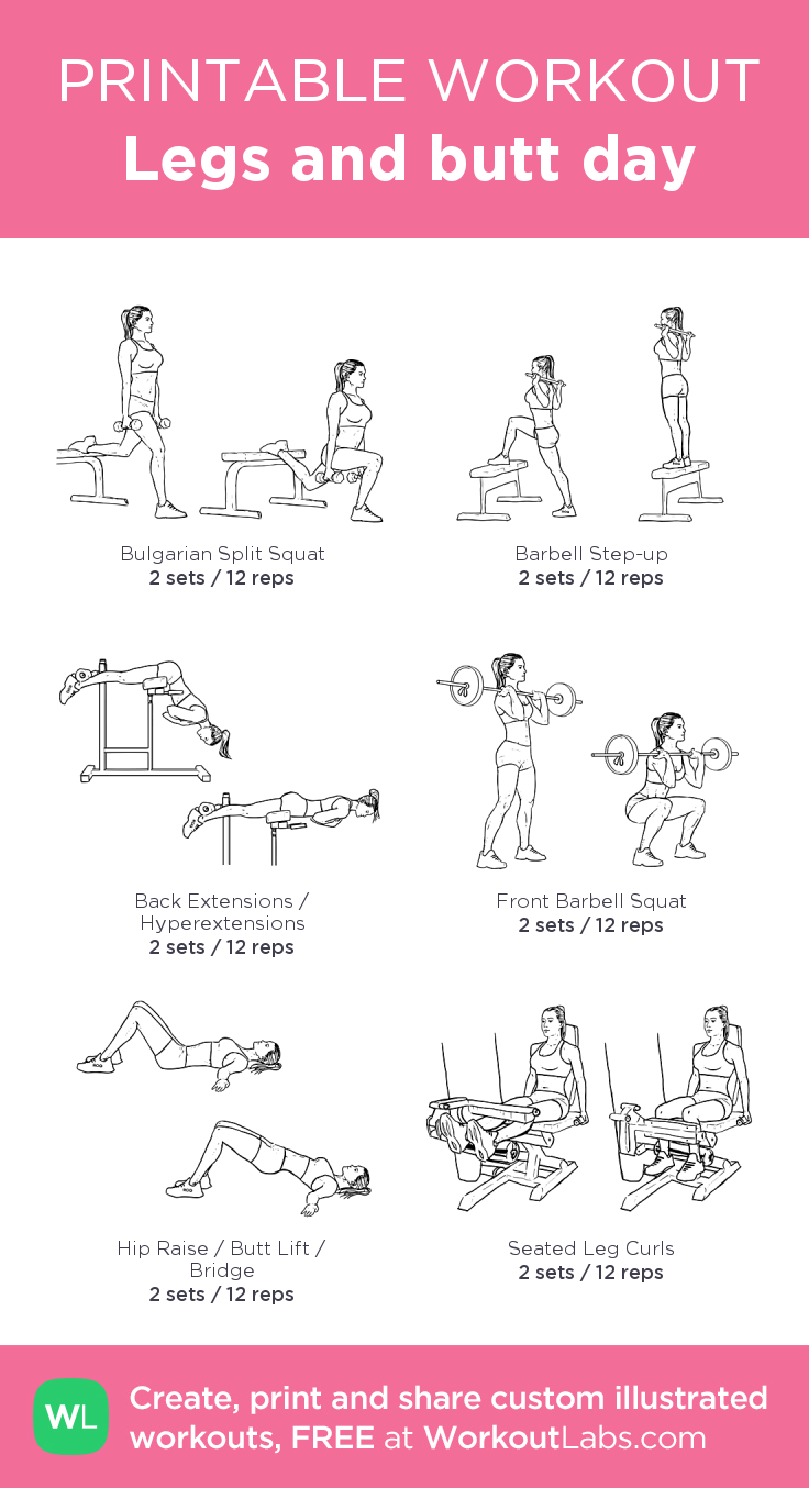 Legs and butt day · Free workout by WorkoutLabs Fit