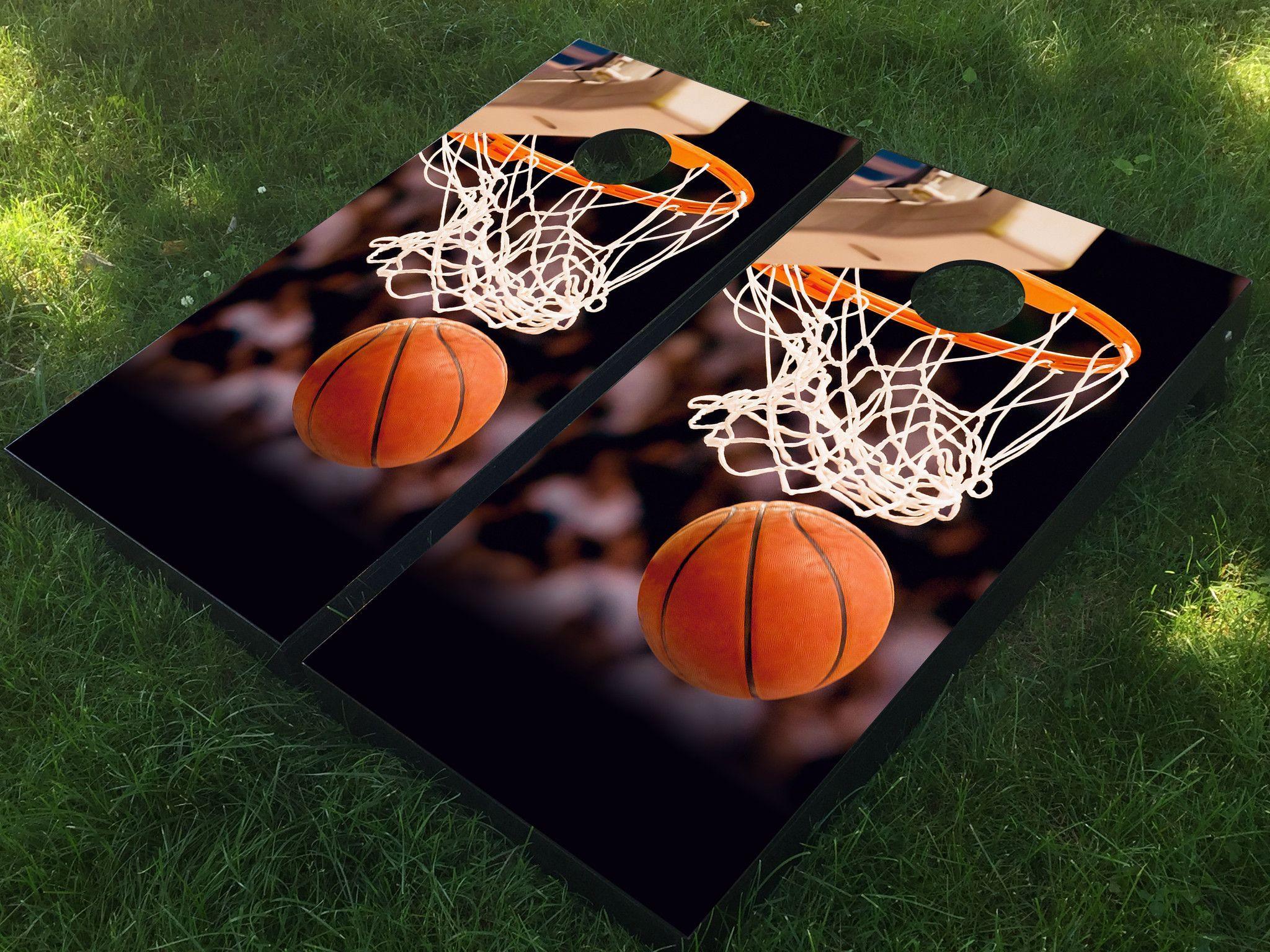 Basketball hoop cornhole boards basketball hoop