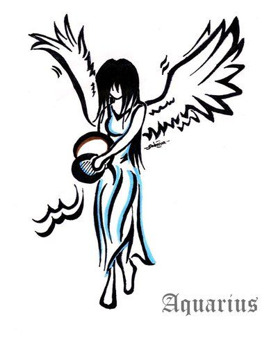 Aquarius Angel Tattoo Tattoo Designs Verseau