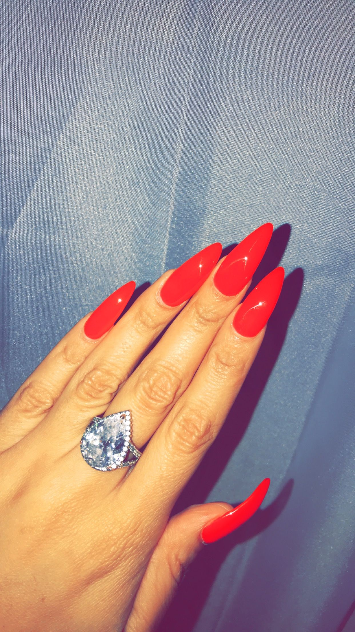 Ferrari Red Red Nails Dnd Gel Polish Stiletto Nails Long Nails