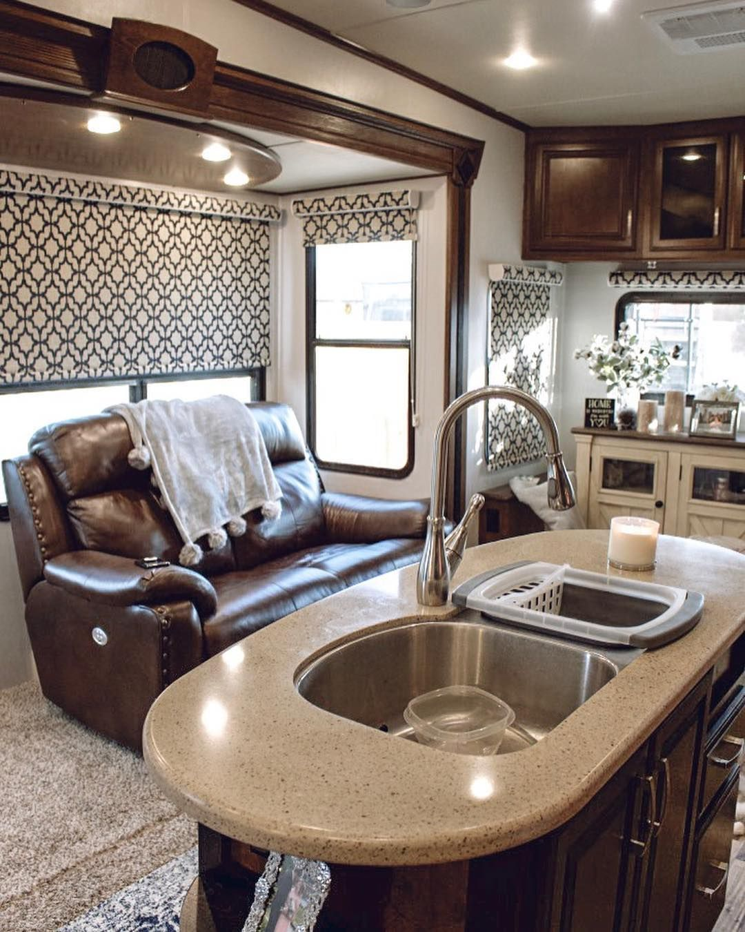 RV living room complete ️ next on our agend | Rv decor, Rv ...
