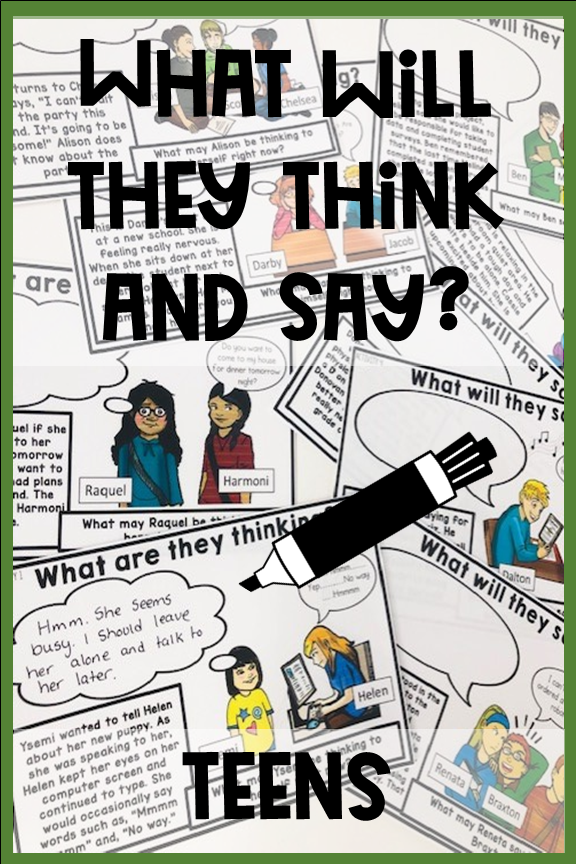 What will they think & say? Social skills for teens. Print