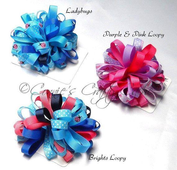 1446-1: Loopy Bows Hair Clip Accessories