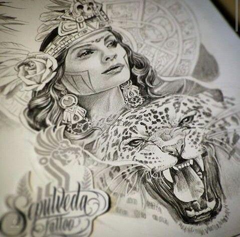 Aztec Princess Aztec Art Aztec Tattoo Aztec Drawing