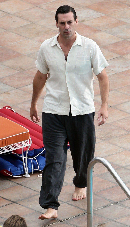 Jon Hamm Hot Male Celebrities Barefoot