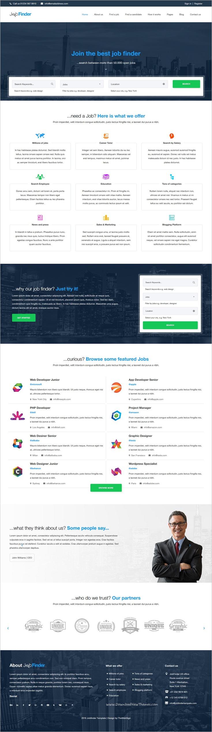 Jobfinder - Job Portal HTML5 Template | Portal