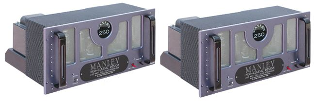 MANLEY NEO-CLASSIC Push-pull 250 e 500 Watt per Mono Block con commutazione TRIODE / tetrodo, trasformatore di uscita MANLEY precisione, WBT morsetti, ingressi bilanciati e sbilanciati. Suono valvolare di classe mondiale! 2005 Stereophile CLASSE A Component.