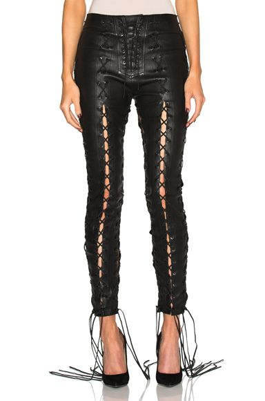 Leather Lace up Flare Pants Spring/summer Unravel vGZBi